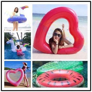 Inflatable Toucan Giant Pool Water Float Toys adult beach Swimming Rings Circle Mattress Sea Water Party swim laps Lifebuoy