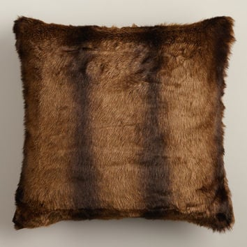 Faux Mink Fur Throw Pillow - World Market