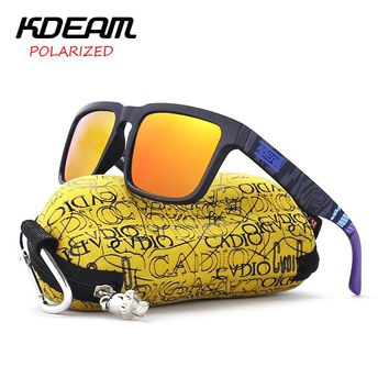 Sport Sunglasses men polarized Square Sunglasses HD lens UV400 With Original Case