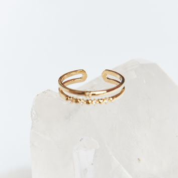 Atlas double layer ring ~ Gold
