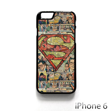Superman Superhero Comic Book for Iphone 4/4S Iphone 5/5S/5C Iphone 6/6S/6S Plus/6 Plus Phone case