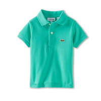 Lacoste Kids Boys' Short-Sleeve Classic Pique Polo Shirt (Toddler/Little Kids/Big Kids) Rockwood Jade Green - Zappos.com Free Shipping BOTH Ways