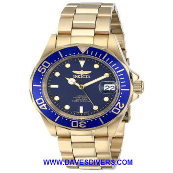 INVICTA PRO AUTOMATIC DIVER GOLD WATCH INV8930