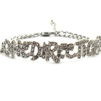My Associates Store - Rhinestone One Direction Infinity Directioner Bracelet w/ 4mm Link Chain XB286R
