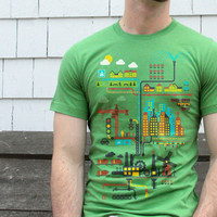 Industrial Ecology Infographic City Map T-shirt