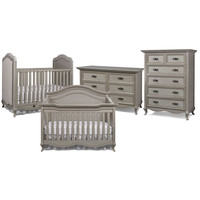 Bel Amore Lyla Rose Nursery Furniture Collection in Saddle Grey