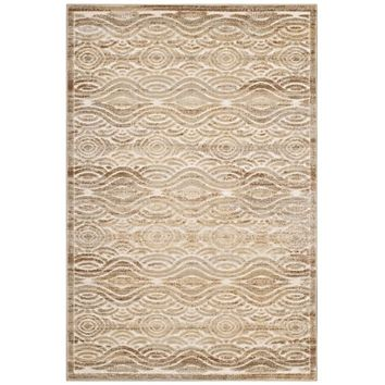 Kennocha Rustic Vintage Abstract Waves 5x8 Area Rug