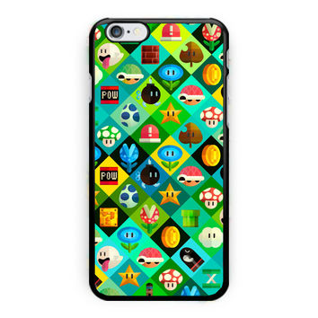 Super Mario Icon Character iPhone 6 Plus Case