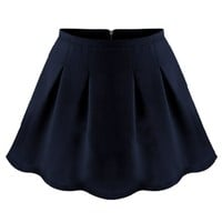 Essential Pleated A-line Skirt - OASAP.com