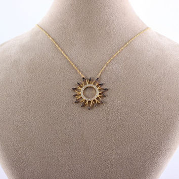 sun necklace-sunshine necklace - christmas gift - unique necklace - fashion necklace- special necklace