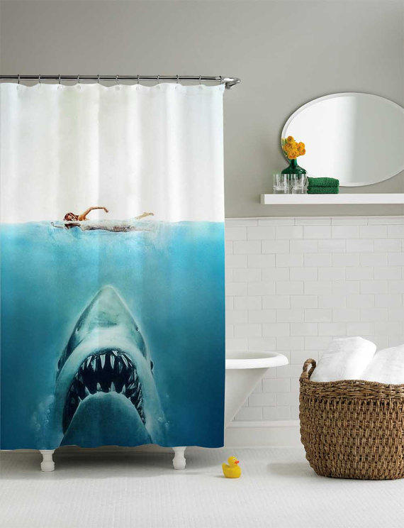 Shark Jaws Shower Curtain From Sarbotexas On