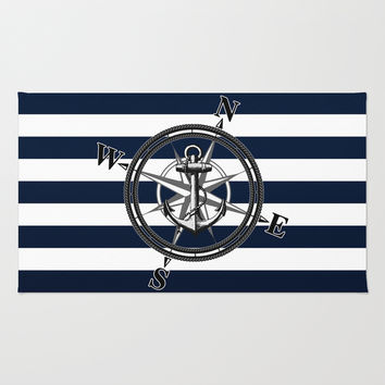 Navy Striped Nautica Rug by Nicklas Gustafsson