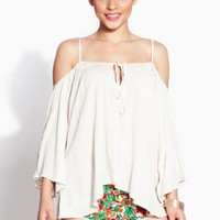 Ivory Woven Boho Top @ Cicihot Top Shirt Clothing Online Store: Dress Shirt,Sexy Womens Shirt,T Shirts,Corset Dress,White T Shirt,Girl T Shirt,Short sleeve top