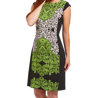 Green & Black Abstract Shift Dress | zulily