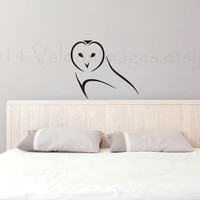 Owl outline vinyl wall decal, home decor, wall sticker, decal, wall graphic, vinyl decal, vinyl graphic decal, wall art