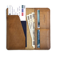 Leather Travel Wallet / Leather Passport  Wallet - The Kindergarten Co. TKC
