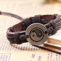 Vintage Bracelet 2017 Hot Sale Tai Chi Ying Yang Men Women Wristband Charm Bracelets Wonderful gift