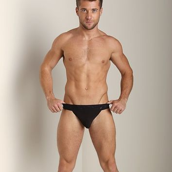 N2N Luxe Jockstrap Black DC3 at International Jock Underwear & Swimwear