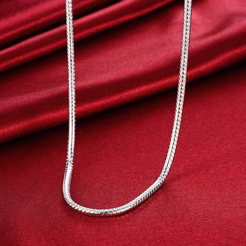 """Men's jewelry 20"""" 24'' 4mm 925 sterling silver long necklace snake chains gift pouches free shipping"""