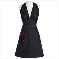 Jessie Steele Bombshell Stylist Apron Black with Red Trim