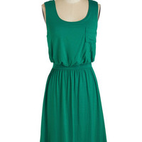 ModCloth Mid-length Sleeveless A-line Positive Perspective Dress