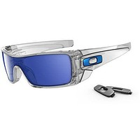 Cheap Oakley Batwolf Mens Sunglasses - Clear ~ Ice Iridium One Size