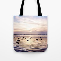 dusk on the beach Tote Bag by sylviacookphotography