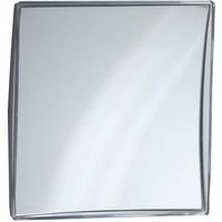 DWBA Rectangular Wall Suction Cosmetic Makeup Magnifying Mirror, Silver Acrylic Frame