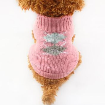 Armi store Autumn Winter Fashion Pink Dog Sweater Princess Sweaters For Dogs 6091003 Puppy Clothing Supplies XS S M L XL