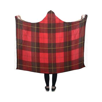 Wallace Tartan Scottish Plaid Hooded Blanket 50x40 Inch