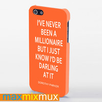I'Ve Never Been A Millionaire (Kate Spade Inspired) iPhone 4/4S, 5/5S, 5C Series Full Wrap Case