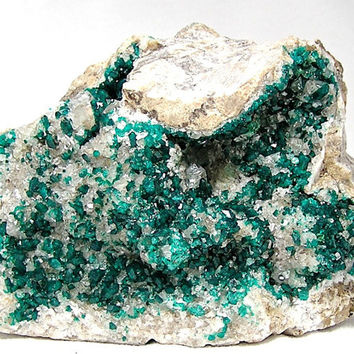 Large Dioptase,  Emerald Green Crystals Mineral Specimen from Kazakhstan,  Very Large Mineral Specimen, Connoisseur's choice