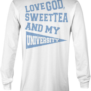 Love God, Sweet Tea and My University (Light Blue)