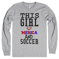This girl loves America and Soccer 4th of July tank top t-shirt