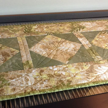 Table Runner - Handmade Quilted Topper - 2-in-1 Reversible Runner - Bedroom Dresser - Fall Home Decor - One Of A Kind Quilt - Wedding Gift