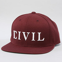 The Civil Snapback in Burgundy