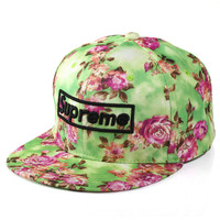 Floral Alphabet Korean Fashion Summer Autumn Baseball Cap Hats [4917647492]