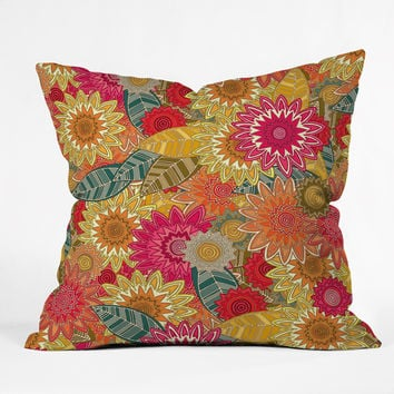 Sharon Turner Sunshine Garden Outdoor Throw Pillow