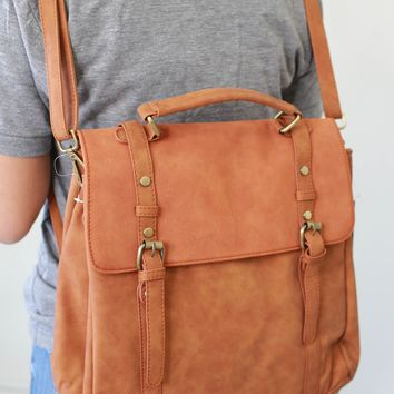 Away We Go Backpack - Cognac
