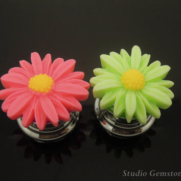 1PC Resin Sunflower Drawer Pulls Knobs Finial-28mm, Gemstone Furniture Accessary