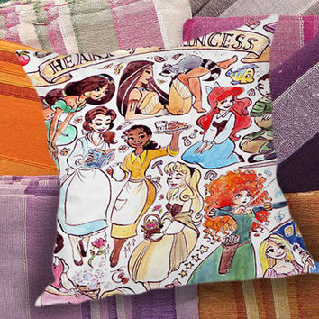 Heart of a Princess Disney  decorative pillow and pillow case