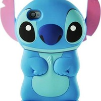 Blue Stitch 3D Movable Ear Flip Hard Case For Apple iPhone 4S