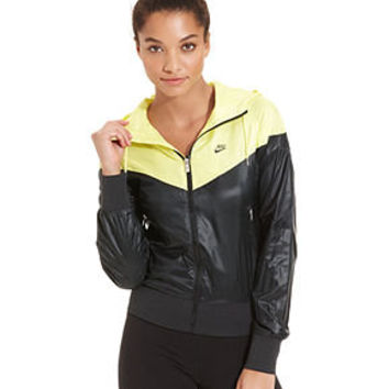 Nike Jacket, Windrunner Colorblock Hooded Windbreaker - Nike - Women - Macy's