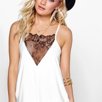 Taylor Lace Panel Slinky Strappy Cami