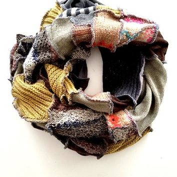 Light Brown Patchwork Scarf