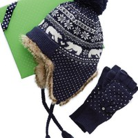 Aerie Women's Fair Isle Trapper Hat & Gloves Set