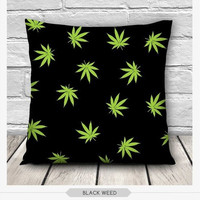 3D Black-weed Printing Throw Hold Pillow Bolster Sofa Cushion Pillowcase Cover