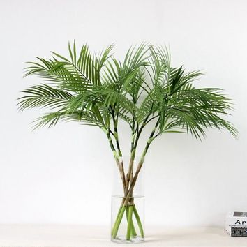 90 CM Artificial Palm Tree Plants Plastic Palm Branch Tropical Fake Indoor Plastic Plants Tree Home Garden Decor No pot