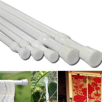 70-124cm Adjustable Extendable Window Curtain Telescopic Pole Shower Curtain Rod