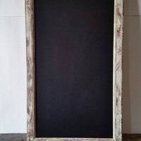 Large Rustic Chalkboard Framed Wedding Chalkboard Antique White Wall Decor